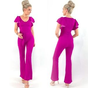 Fitted Flare Pant Jumpsuit